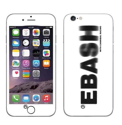 Наклейка на Телефон Apple iPhone 7 Ебаш,  купить в Москве – интернет-магазин Allskins, черно-белое, ебаш, надписи, мат