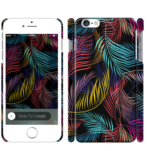 Фотография футболки Разноцветные листья пальмы