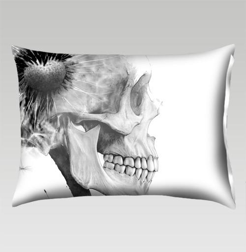 Наклейка на Подушки Подушки Подушка прямоугольная ОДУВАНЧ,  купить в Москве – интернет-магазин Allskins, розыгрыш, прикол, череп, скелет, цветы, идея, металл, rock