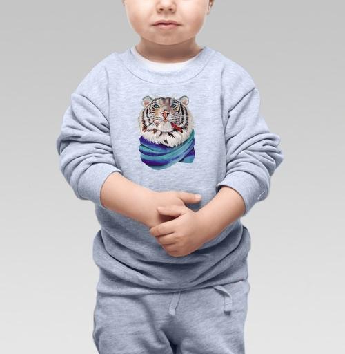 Cвитшот Детский серый меланж 320 гр стандарт - Харизма