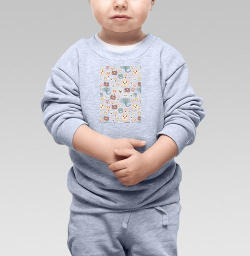 Cвитшот Детский серый меланж 320 гр стандарт - Зверята