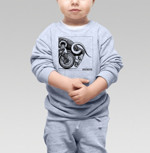 Cвитшот Детский серый меланж 320 гр стандарт - Энсьерро