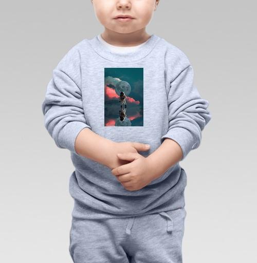 Cвитшот Детский серый меланж 320 гр стандарт - Я один