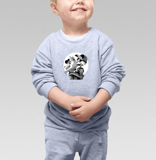 Cвитшот Детский серый меланж 320 гр стандарт - Полнолуние
