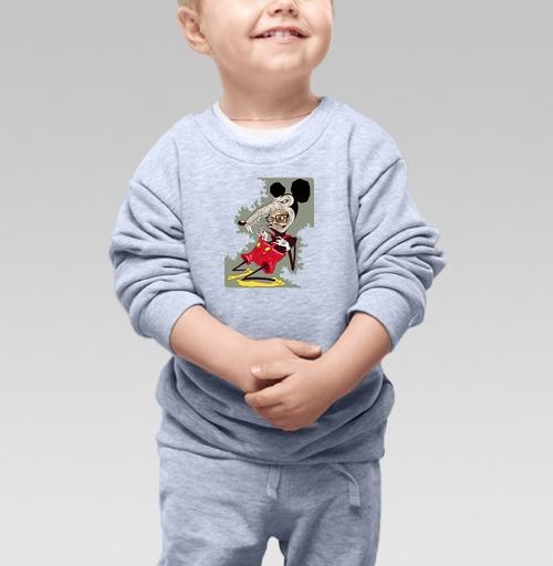 Cвитшот Детский серый меланж 320 гр стандарт - Потребитель – жертва капитализма.