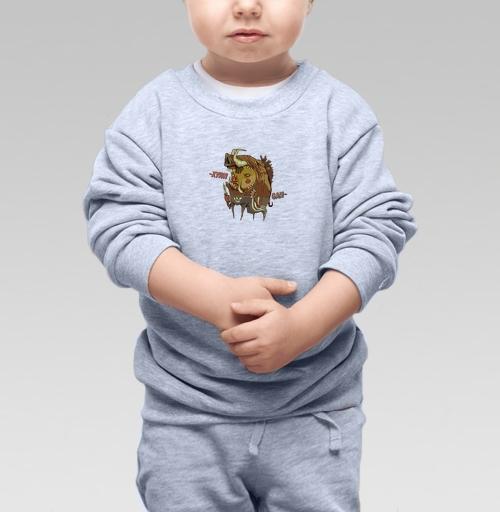 Cвитшот Детский серый меланж 320 гр стандарт - Хули Ган