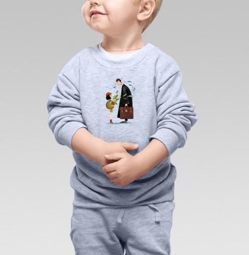 Cвитшот Детский серый меланж 320 гр стандарт - Леон