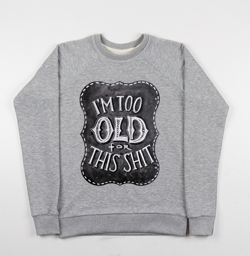 Фотография футболки Я слишком стар для этого...