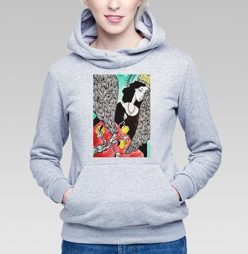Птица сирен, Nastya1998, Магазин футболок Nastya1998, Толстовка Женская серый меланж