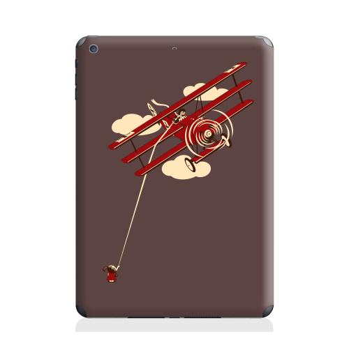 Наклейка на Планшет Apple iPad Air Pilot,  купить в Москве – интернет-магазин Allskins, девушка, самолет, военные, детские, мужские
