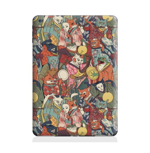 Наклейка на Планшет Apple iPad Air 2 Ночной парад,  купить в Москве – интернет-магазин Allskins, музыка, кошка, лиса, кицунэ, оборотни, духи, демоны, Япония, миф