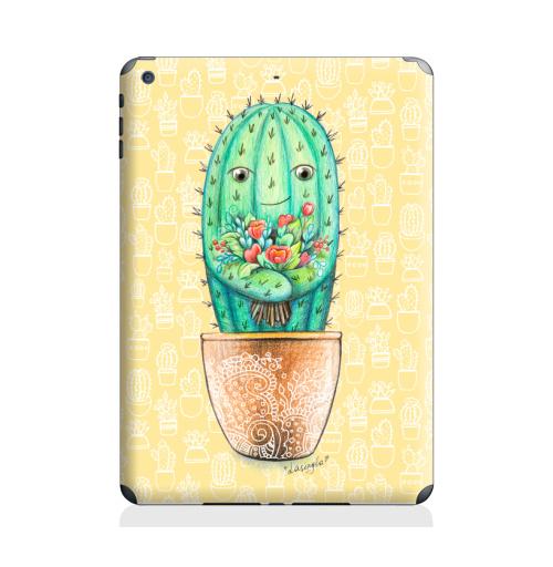Наклейка на Планшет Apple iPad Air 2 Кактус с цветами,  купить в Москве – интернет-магазин Allskins, цветы, колючий, растение, зеленый, веселый, персонажи, конверт, посткроссинг