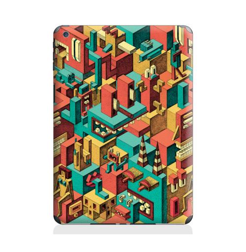 Наклейка на Планшет Apple iPad Air 2 Геометрическая Вакханалия,  купить в Москве – интернет-магазин Allskins, яркий, графика, дудлы, психоделика, цвет, монстры, геометрия