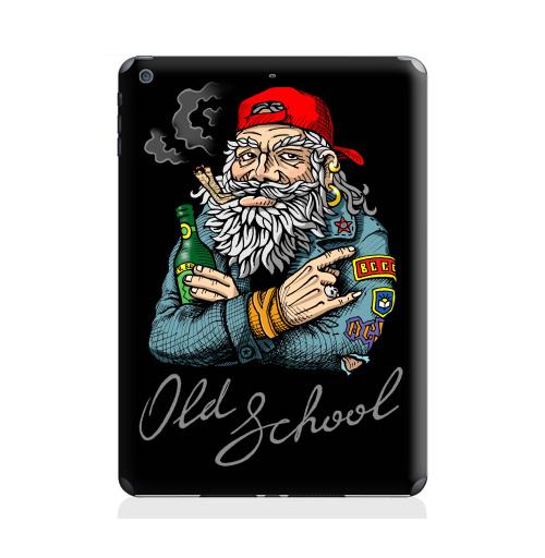 Наклейка на Планшет Apple iPad Air 2 Old School,  купить в Москве – интернет-магазин Allskins, english, надписи, волосы, косяк, школа, 80-е, металл, старая, олдскулл