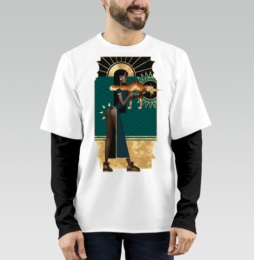Футболка мужская лонгслив DoubleShirt - Рататата