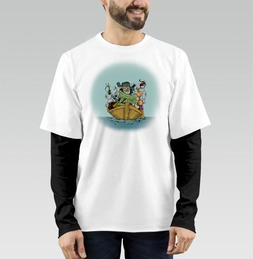 Футболка мужская лонгслив DoubleShirt - Дед Мазай