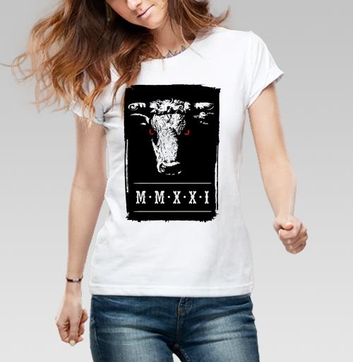 Футболка женская белая 180гр - Буллз Йеар
