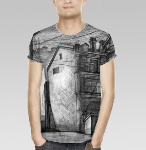 4d5266de1f7d5 Мужская футболка 3D с рисунком Серые дворы - купить в интернет-магазине  МэриДжейн в Москве и СПБ