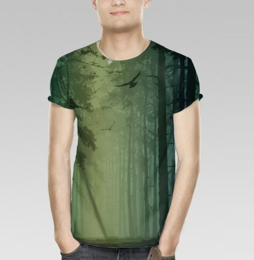 7805ff35bf0de Мужская футболка 3D с рисунком Птицы в лесу - купить в интернет-магазине  МэриДжейн в Москве и СПБ