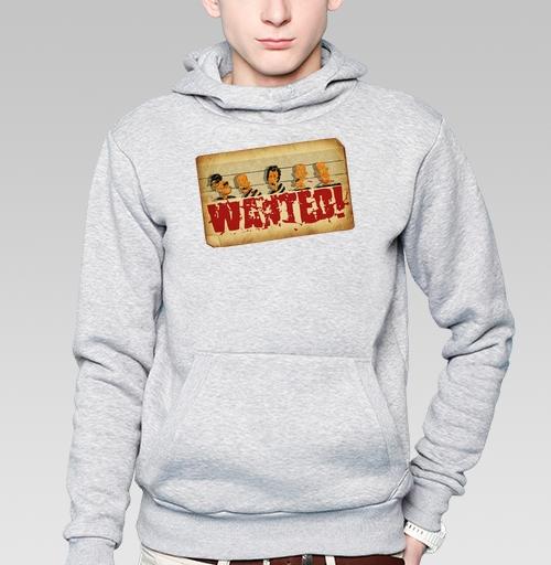 d3b1e021124 Мужская толстовка с рисунком Wanted!!! - купить в интернет-магазине  МэриДжейн в Москве и СПБ